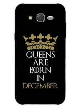 Queens December Samsung Galaxy J7 2015 Mobile Cover Case