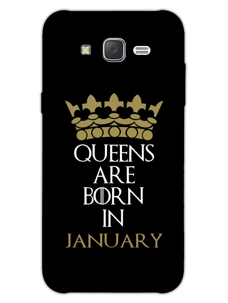Queens January Samsung Galaxy J7 2015 Mobile Cover Case