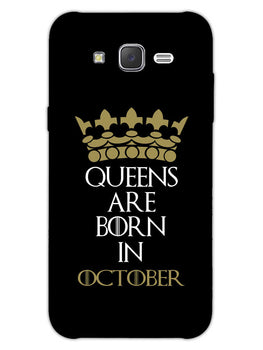 Queens October Samsung Galaxy J7 2015 Mobile Cover Case