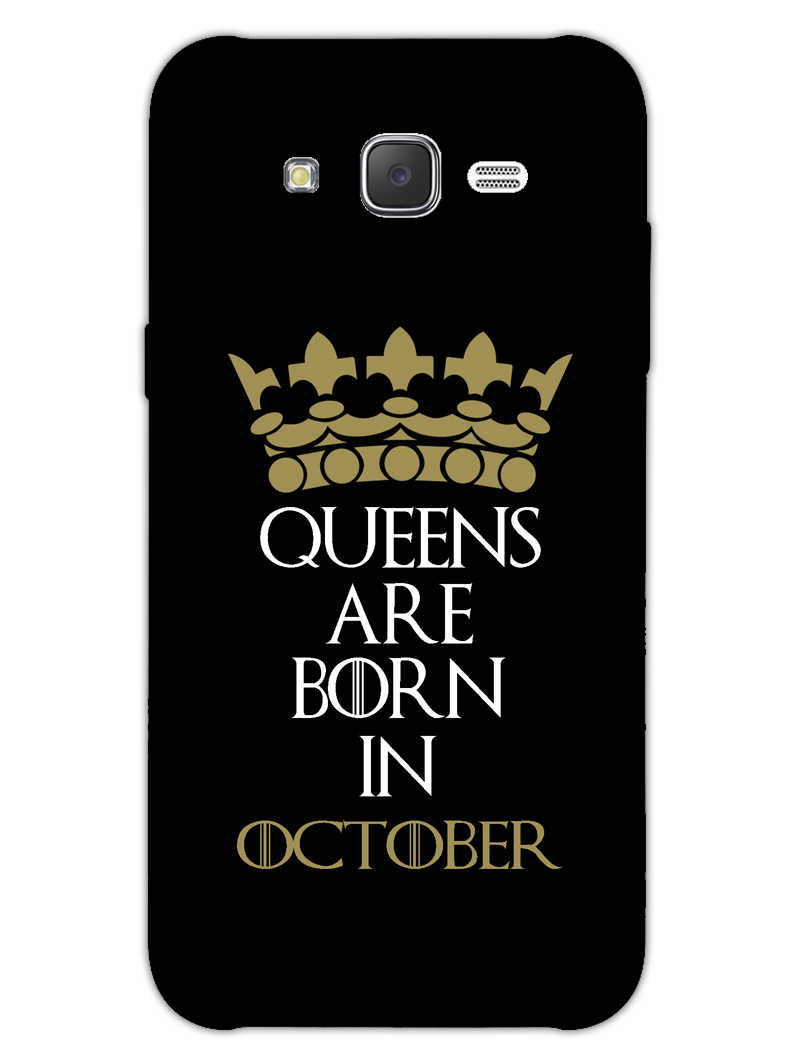 Queens October Samsung Galaxy J7 2015 Mobile Cover Case - MADANYU