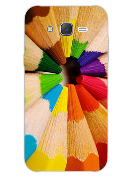 Rainbow Sticks Art Samsung Galaxy J7 2015 Mobile Cover Case