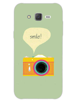 Smile Vintage Camera Samsung Galaxy J7 2015 Mobile Cover Case