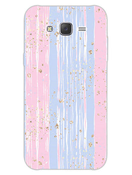Pink And Blue Shade Lines Samsung Galaxy J7 2015 Mobile Cover Case