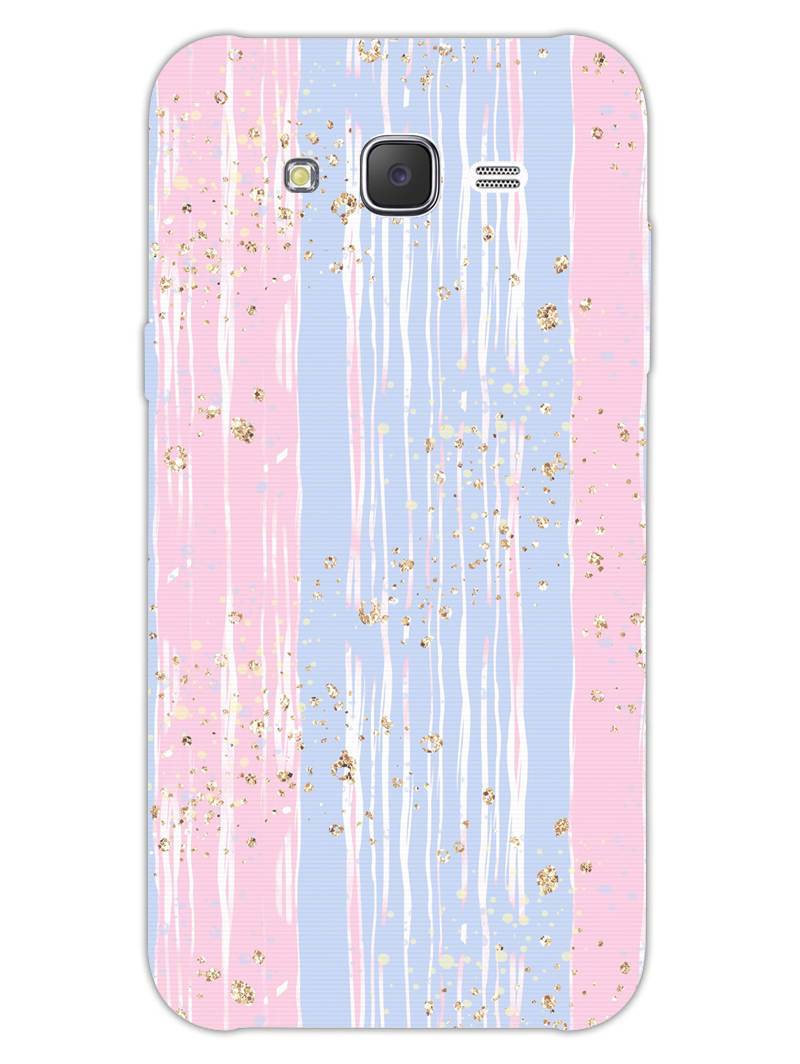 Pink And Blue Shade Lines Samsung Galaxy J7 2015 Mobile Cover Case - MADANYU