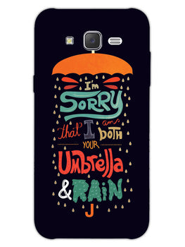 Umbrella And Rain Rainny Quote Samsung Galaxy J7 2015 Mobile Cover Case