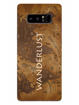 Wanderlust Traveller Globe Trotter Samsung Galaxy Note 8 Mobile Cover Case