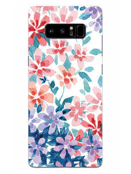 Floral Art Samsung Galaxy Note 8 Mobile Cover Case