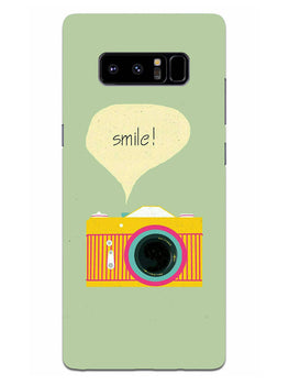 Smile Vintage Camera Samsung Galaxy Note 8 Mobile Cover Case