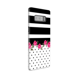 Rose Polka Stripes Samsung Galaxy Note 8 Mobile Cover Case