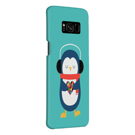 Cute Penguin Fall In Love Samsung Galaxy S8 Plus Mobile Cover Case