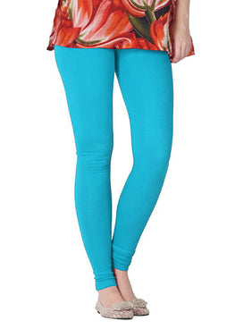 Premium Super Soft Stretchable Free Size Sky Blue Leggings for Women