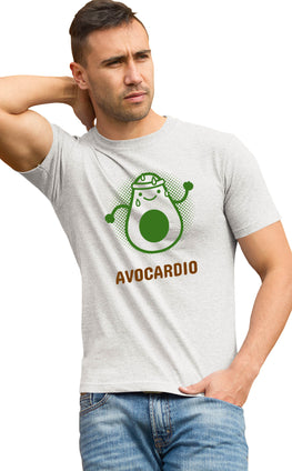 Graphic Printed T-Shirt for Men & Women Avocardio Funny Fruit