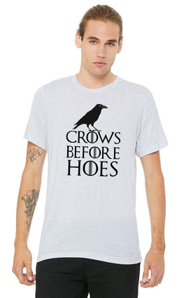 Graphic Printed T-Shirt for Men & Women Crows Before Hoes