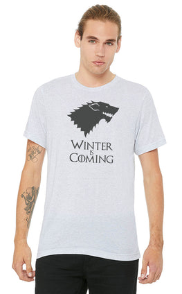 Graphic Printed T-Shirt for Men & Women Winter Is Coming Quote