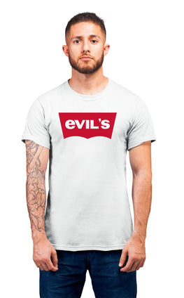 Graphic Printed T-Shirt for Men & Women Evils Typography