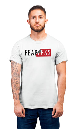 Graphic Printed T-Shirt for Men & Women Fearless Cool Typography