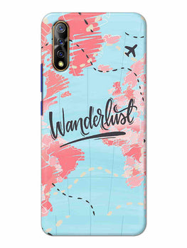 Wanderlust Travel Map Vivo S1 Cover Case