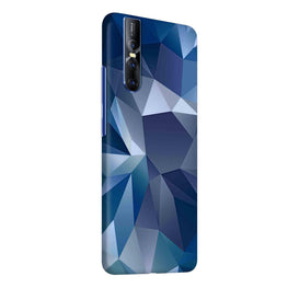 Blue Abstract Poly Vivo V15 Pro Cover Case