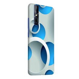 Blue Circles Abstract Vivo V15 Pro Cover Case (For Girls)