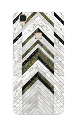 Marble Strips Line Pattern Geometric Art Vivo V3 Mobile Cover Case