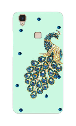 Beautiful Peacock Stone Art  Vivo V3 Mobile Cover Case