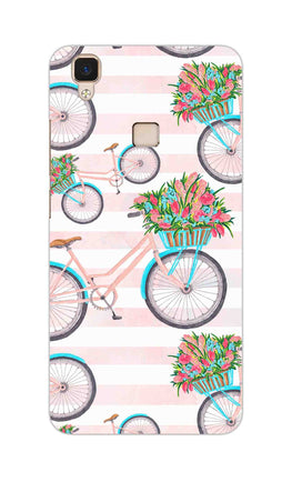 Bicycles Everywhere So Girly Vivo V3 Mobile Cover Case