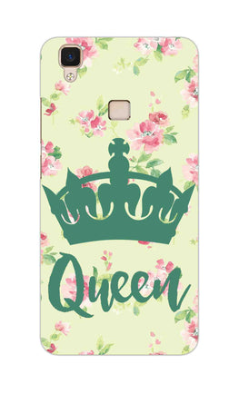 Floral Queen Pattern So Girly Vivo V3 Mobile Cover Case