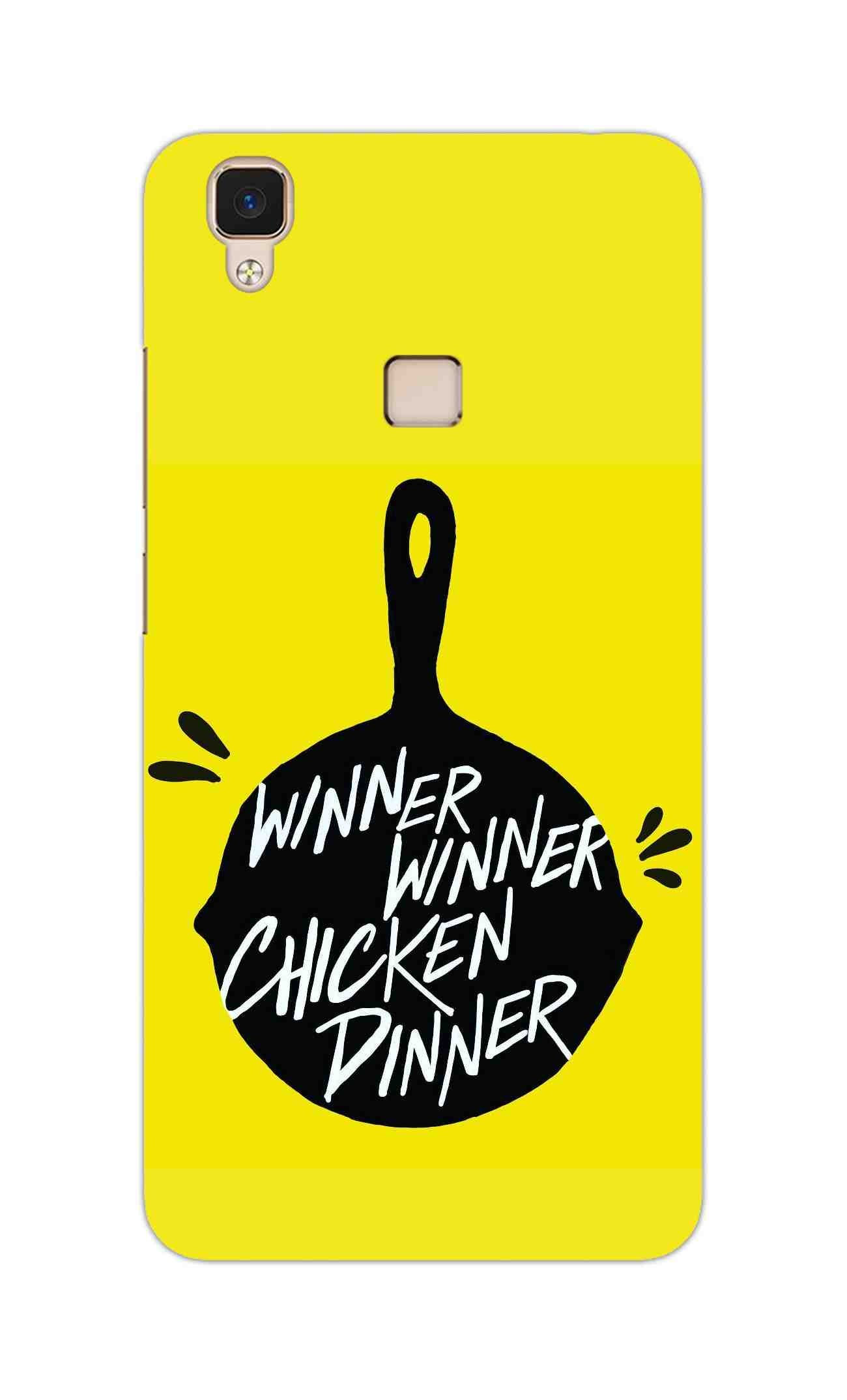 Chicken Pan Typography Art Vivo V3 Mobile Cover Case - MADANYU