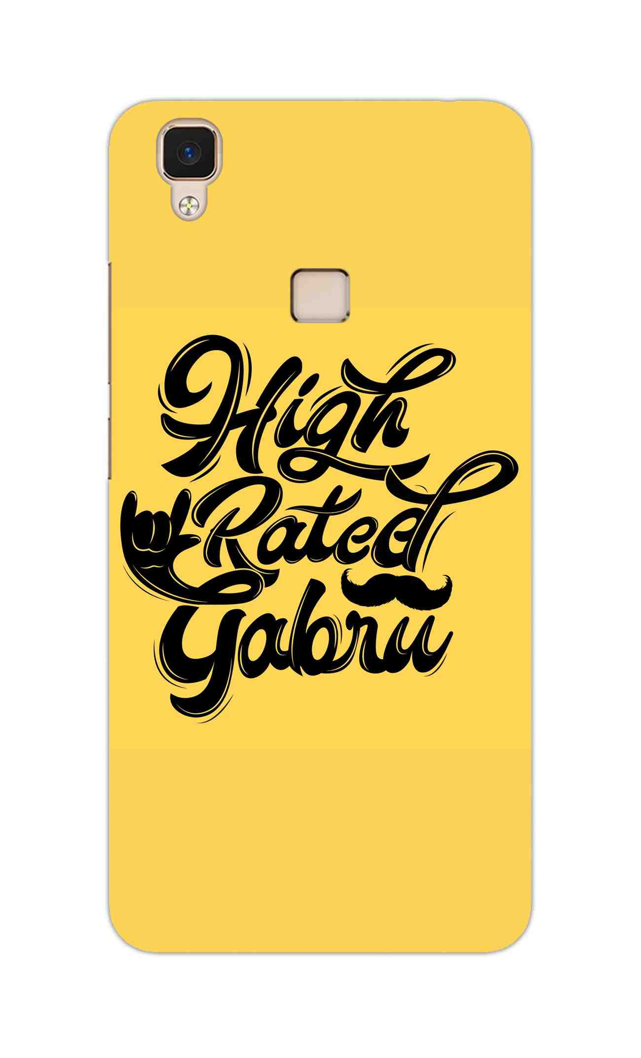 High Rated Gabru Song Typography Vivo V3 Mobile Cover Case - MADANYU