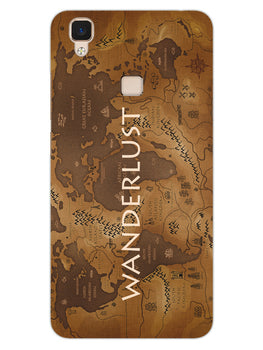 Wanderlust Traveller Globe Trotter Vivo V3 Mobile Cover Case
