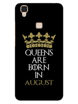Queens August Vivo V3 Mobile Cover Case