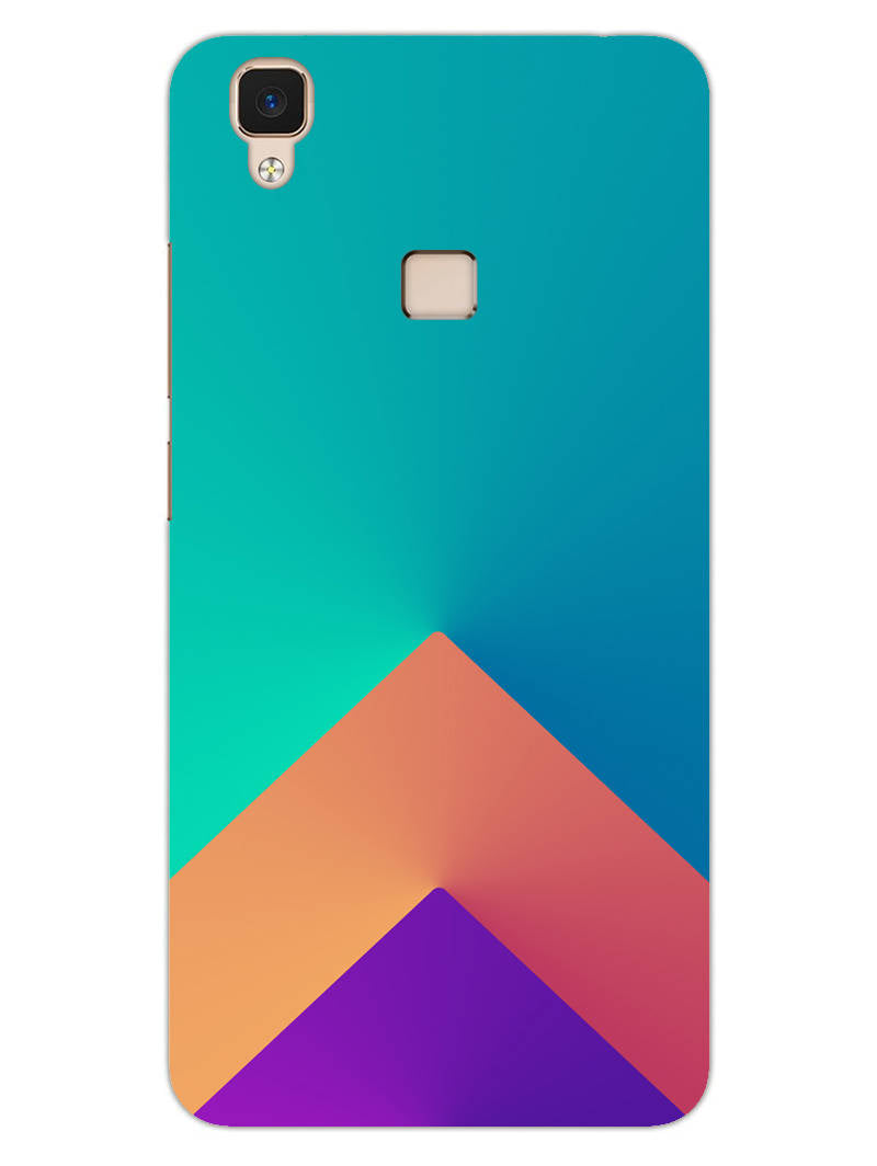 Triangular Shapes Vivo V3 Mobile Cover Case - MADANYU