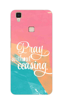 Pray Without Ceasing Motivational Quote Vivo V3 Mobile Cover Case