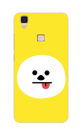 Tongue Out Smile Funny Face Vivo V3 Mobile Cover Case