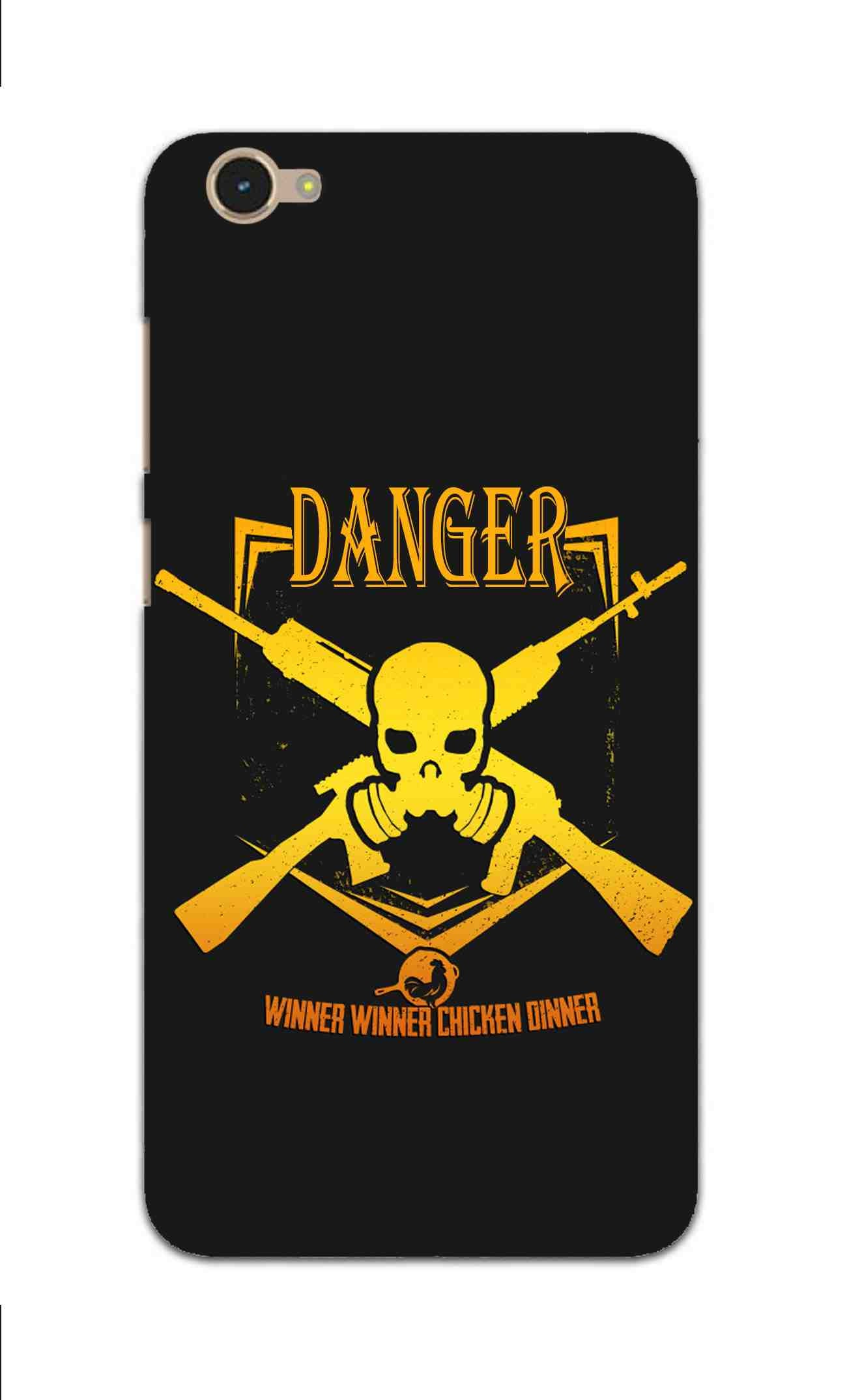 Danger Gun Sign Typography Vivo V5 Mobile Cover Case - MADANYU