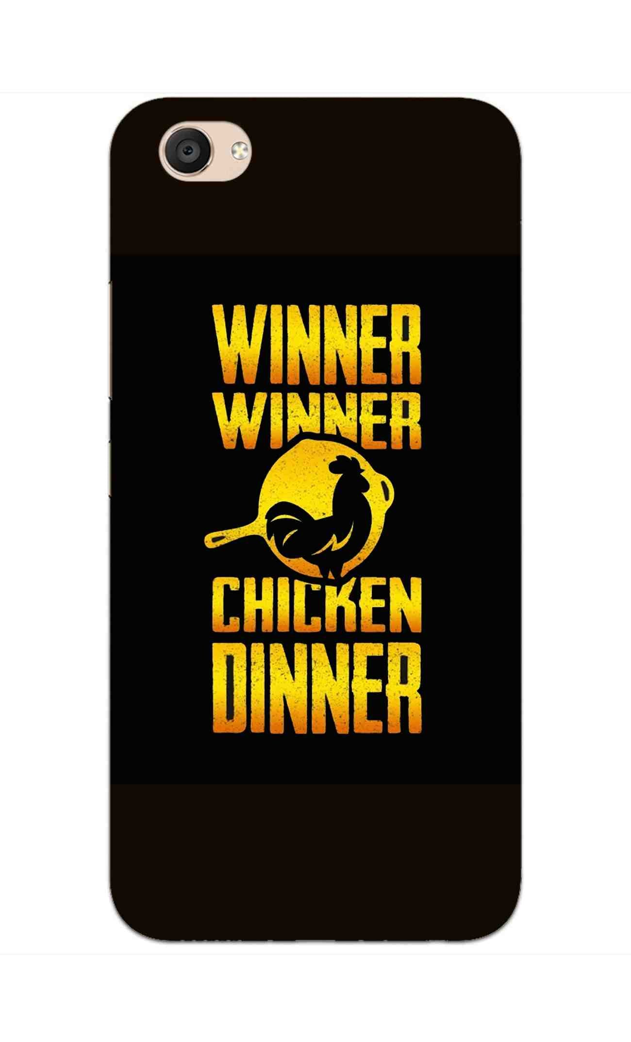 Chicken Dinner Pan For Winner Typography Vivo V5 Plus Mobile Cover Case - MADANYU
