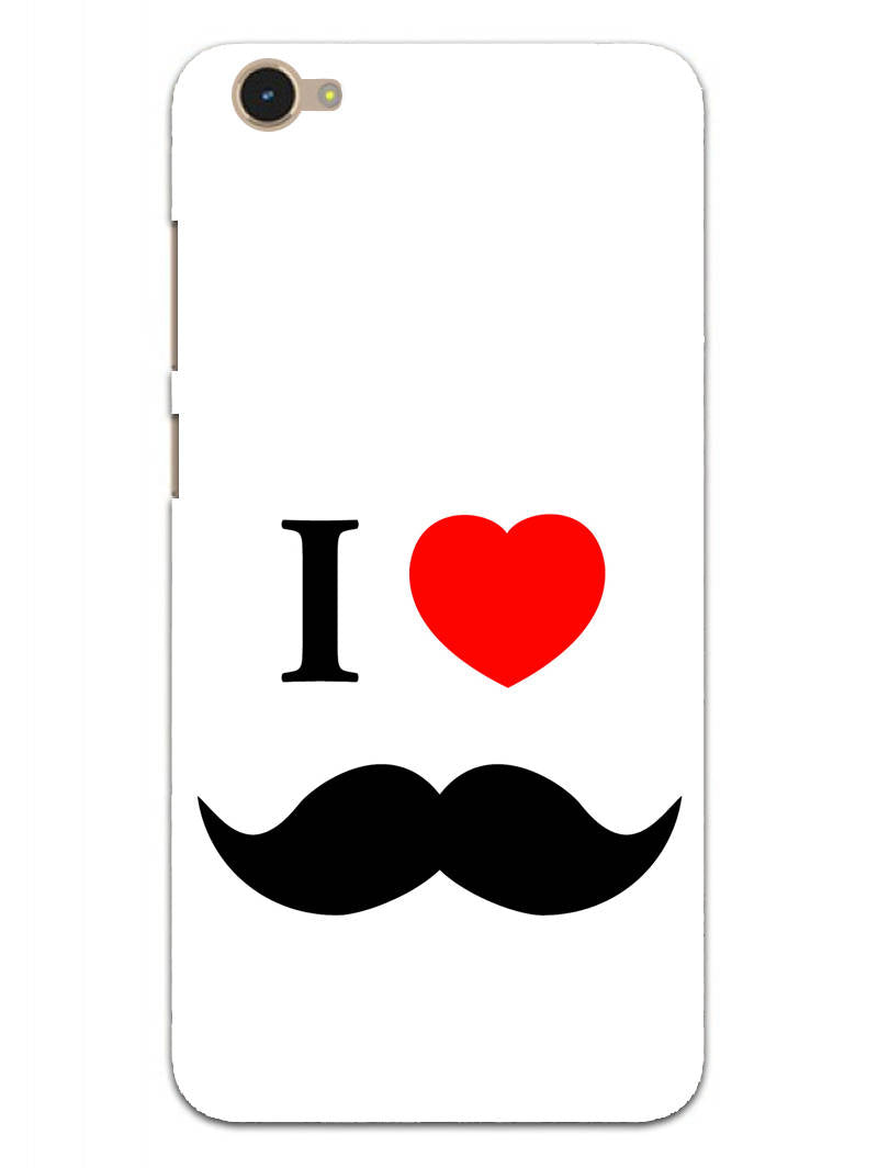 I Love Mustache Style Vivo V5 Mobile Cover Case - MADANYU