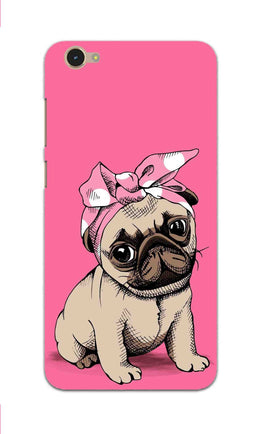 Princess Pug Dog Lovers So Girly Vivo V5 Mobile Cover Case