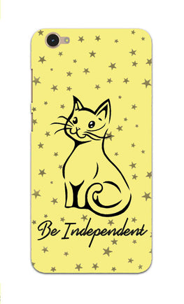 Be Independent Cat Motivational Quote Vivo V5 Mobile Cover Case