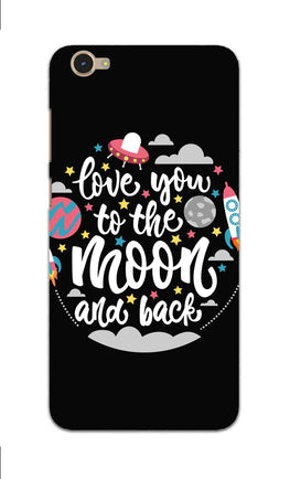 Love You Moon Space Surfing Lovers Vivo V5 Mobile Cover Case