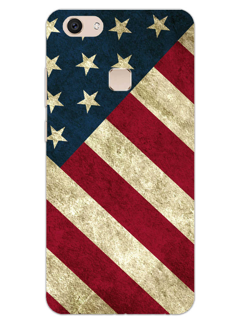 American Flag Art Vivo V7 Plus Mobile Cover Case