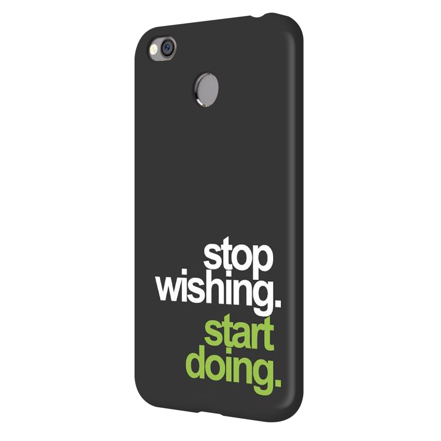 Stop Wishing Start Doing Motivational Quote Vivo V7 Plus Mobile Cover Case - MADANYU