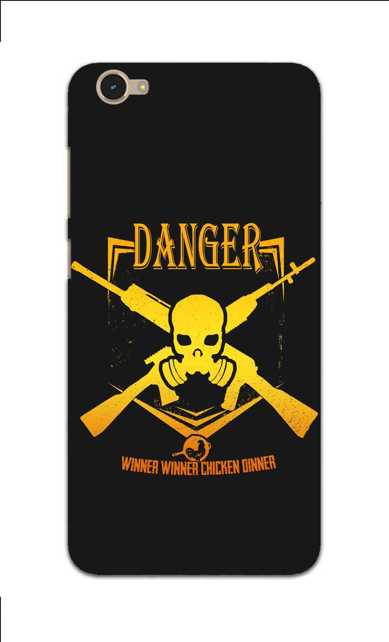 Danger Gun Sign Typography Vivo Y55L Mobile Cover Case - MADANYU