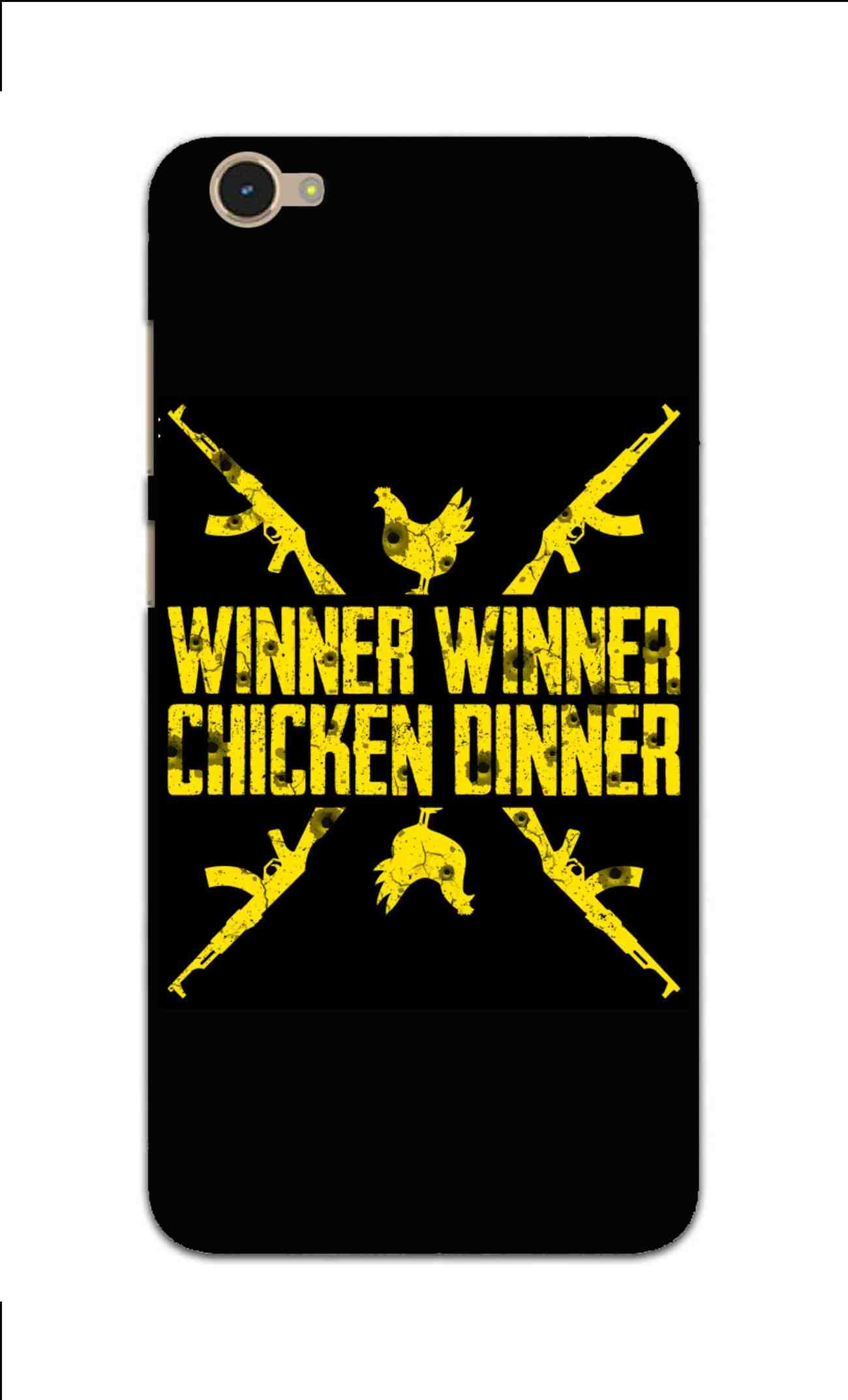 Gun And Chicken For Winner Typography Art Vivo Y55L Mobile Cover Case - MADANYU
