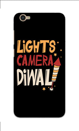 Lights Camera Diwali Enjoy Festival Of Light Vivo Y55L Mobile Cover Case