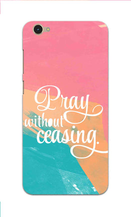 Pray Without Ceasing Motivational Quote Vivo Y55L Mobile Cover Case