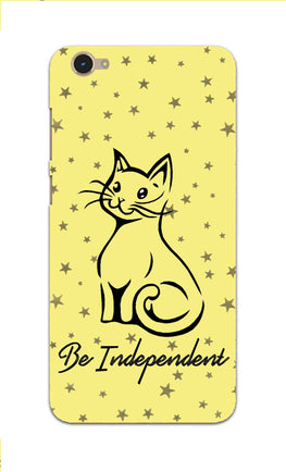 Be Independent Cat Motivational Quote Vivo Y55L Mobile Cover Case