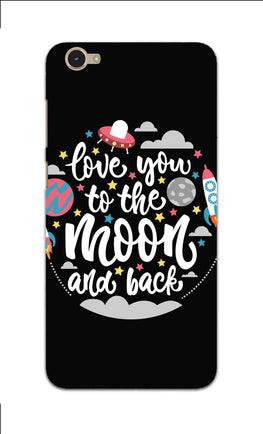 Love You Moon Space Surfing Lovers Vivo Y55L Mobile Cover Case