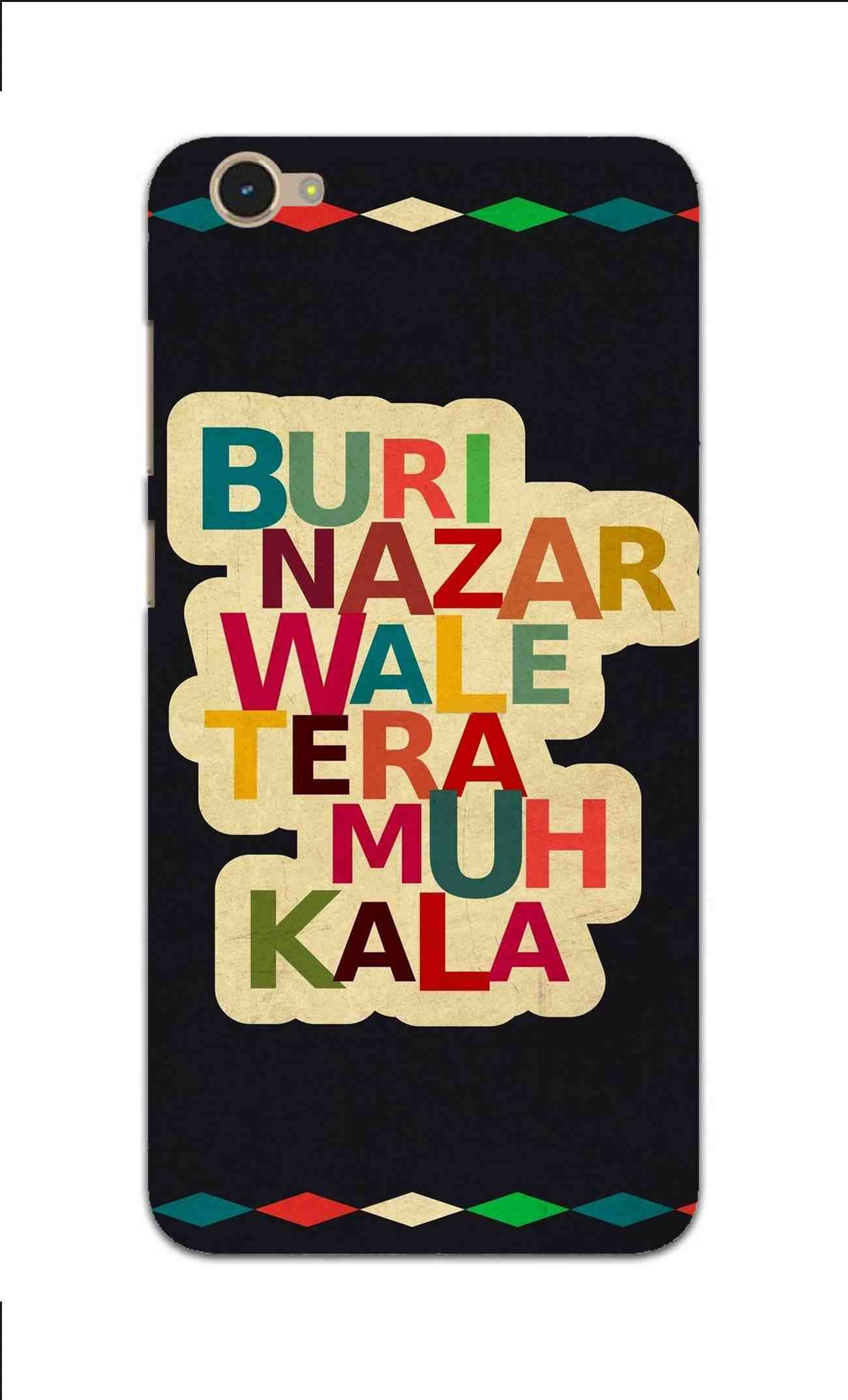 Buri Nazar Wale Tera Muh Kala Indian Typography Vivo Y55S Mobile Cover Case - MADANYU