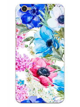 Hand Painted Floral Vivo Y55S Mobile Cover Case
